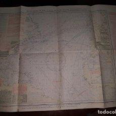 Líneas de navegación: CARTA PILOTO DE NAVEGACIÓN DEL ATLÁNTICO NORTE - DICIEMBRE 1932. Lote 214579152