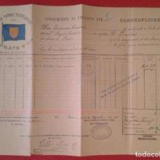 Líneas de navegación: AÑO 1897 DOCUMENTO LINEA DE VAPORES TRASATLÁNTICOS F. PRATS Y CIA CÁDIZ CONOCIMIENTO EMBARQUE VER.... Lote 214700943