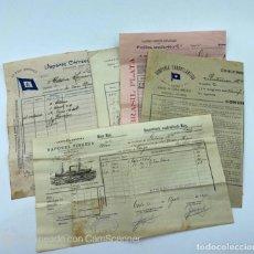 Linee di navigazione: LOTE DE 5 DOCUMENTOS DE EMBARQUE DIFERENTES. SHIPPING DOCUMENT. VER TODAS LAS FOTOS. Lote 220093471