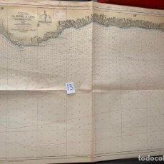 Líneas de navegación: CARTA NÁUTICA , DE MOTRIL A ADRA , CADIZ , INST. HIDROGRÁFICO DE LA MARINA 1973. Lote 220357060