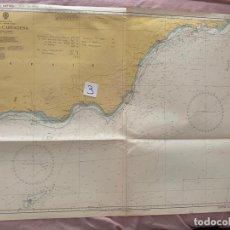 Líneas de navegación: CARTA NÁUTICA , ADRA TO CARTAGENA , PUBLISHED AT TAUNTON , 1974. Lote 220360082