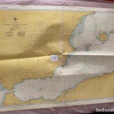 Líneas de navegación: CARTA NÁUTICA , CADIZ TO BARCELONA , PUBLISHED AT TAUNTON , 1975. Lote 220360445