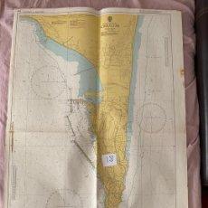 Líneas de navegación: CARTA NÁUTICA , GIBRALTAR , PUBLISHED AT TAUNTON , 1974. Lote 220360806