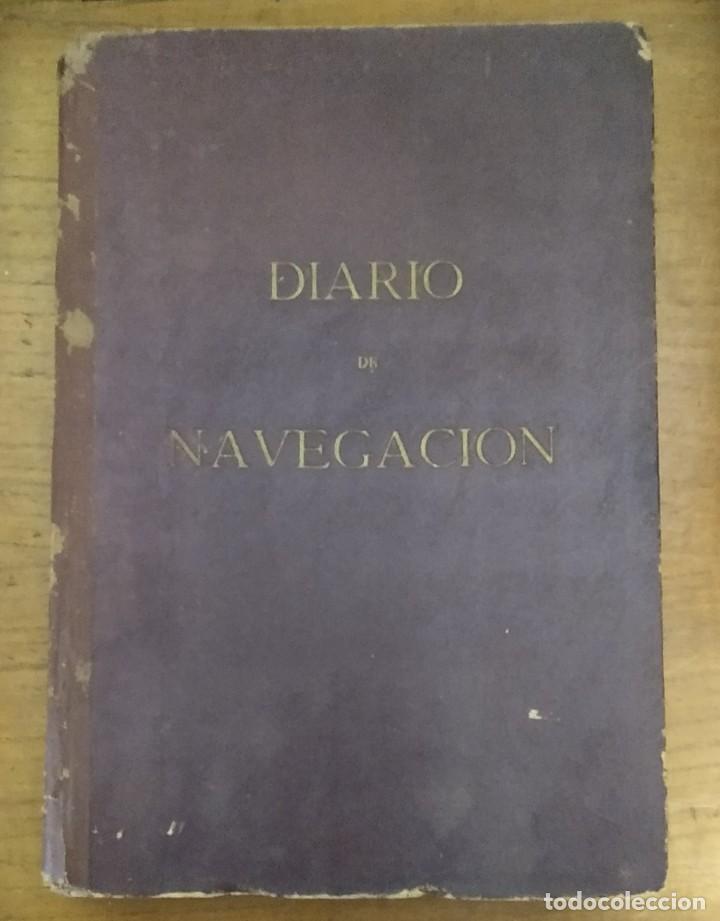 DIARIO DE NAVEGACIÓN O CUADERNO DE BITÁCORA - EDICIONES FRAGATA - 1956 (Coleccionismo - Líneas de Navegación)
