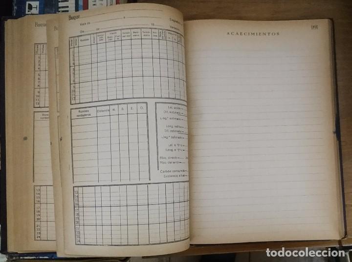 Líneas de navegación: DIARIO DE NAVEGACIÓN O CUADERNO DE BITÁCORA - EDICIONES FRAGATA - 1956 - Foto 4 - 221257011