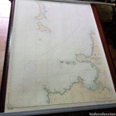 Lignes de navigation: CARTA NÁUTICA DEL PUERTO DE BAYONA CON LAS CIES Y ENTRADAS A LA RIA DE VIGO. Lote 221360456