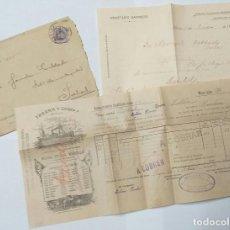 Líneas de navegación: ANTIGUO SOBRE DE ANASTASIO BARRERO - HUELVA - QUE CONTIENE CONOCIMIENTO DE EMBARQUE AÑO 1904 - VAPOR. Lote 221713575