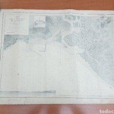 Líneas de navegación: ANTIGUO MAPA CARTA DE LA BARRA Y FONDEADERO DE BARBATE (CADIZ) 1929 COMISIÓN HIDROGRÁFICA. Lote 221949721