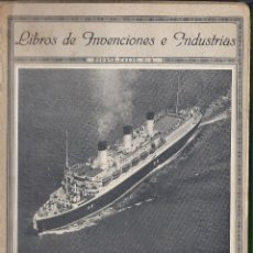 Líneas de navegación: LIBRO DE INVENCIONES E INDUSTRIAS.LA NAVEGACION.ESPASA CALPE.1937. Lote 224236573