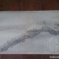 Líneas de navegación: GRAN MAPA DE NAVEGACIÓN DE BAHIA PISCO TO PTA. DE STA. ELENA. Lote 225600220