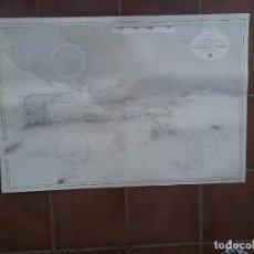Líneas de navegación: GRAN MAPA DE NAVEGACIÓN DE TOBAGO TO TORTUGA EN BUEN ESTADO. Lote 225601115