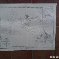 Líneas de navegación: GRAN MAPA DE NAVEGACIÓN DE PUERTO DE VERACRUZ EN BUEN ESTADO. Lote 225602165