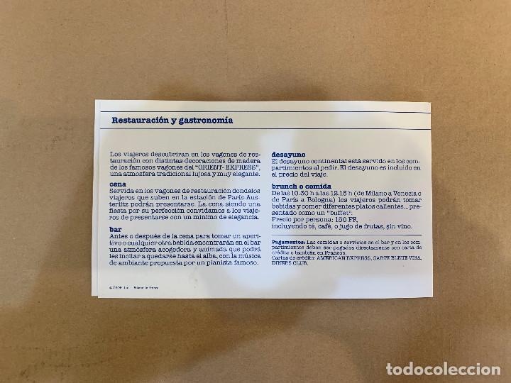 Líneas de navegación: VENICE SIMPLON - ORIENT EXPRESS - PUBLICIDAD - AÑOS 80 - Foto 3 - 227039120
