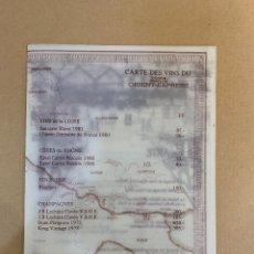 Líneas de navegación: VENICE SIMPLON - ORIENT EXPRESS - MENU - CARTA DE VINOS - AÑOS 80. Lote 227039930