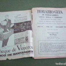 Líneas de navegación: HORARIO GUIA DE FERROCARRILES , LINEAS AEREAS Y MARITIMAS . 1965. Lote 228876645