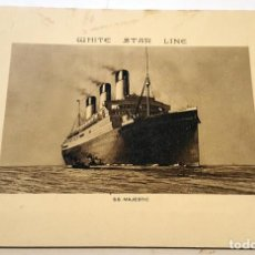 "Líneas de navegación: ABSTRACT OF LOG, R.M.S. ""MAJESTIC"" , VOYAGE NO. 115 - 1930. WHITE STAR LINE. LOW USE.. Lote 232494581"