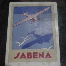 Linee di navigazione: FOLLETO BELGIAN AIR LINES SABENA . LINEA AEREA BELGA BELGICA AÑO 1932 HORARIOS DÍPTICO. Lote 234396775