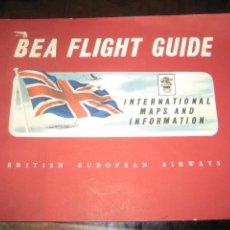 Líneas de navegación: FOLLETO PUBLICIDAD BEA FLIGHT GUIDE . BRITISH EUROPEAN AIRWAYS . COMPAÑIA AEREA. Lote 234397980