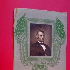 Líneas de navegación: ABRAHAM LINCOLN - MENÚ - 1914 - AMERICAN LINE - LINCOLN'S BIRTHDAY. Lote 234401615