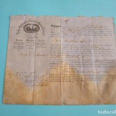 Líneas de navegación: CONOCIMIENTO DE EMBARQUE THE SPANISH & PORTUGUESE SCREW STEAM SHIPPING COMPANY 1862. Lote 246495415