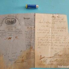 Líneas de navegación: CONOCIMIENTO DE EMBARQUE THE SPANISH & PORTUGUESE SCREW STEAM SHIPPING COMPANY 1862. Lote 246496205