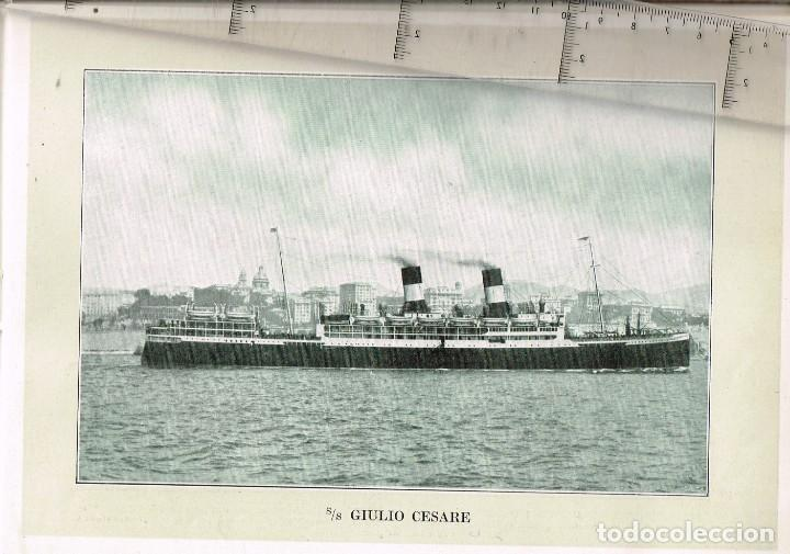 """1924 ALBUM DEL TRASATLÁNTICO """"GIULIO CESARE"""" + 2 CARTAS PUBLICITARIAS IGUALES DE LA NAVIERA (Coleccionismo - Líneas de Navegación)"""