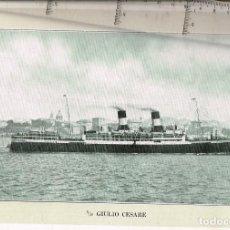 """Líneas de navegación: 1924 ALBUM DEL TRASATLÁNTICO """"GIULIO CESARE"""" + 2 CARTAS PUBLICITARIAS IGUALES DE LA NAVIERA. Lote 252659140"""