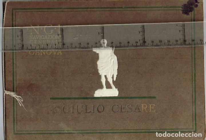 """Líneas de navegación: 1924 ALBUM DEL TRASATLÁNTICO """"GIULIO CESARE"""" + 2 Cartas publicitarias iguales de la Naviera - Foto 2 - 252659140"""