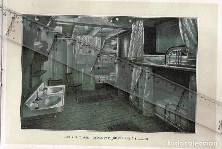 """Líneas de navegación: 1924 ALBUM DEL TRASATLÁNTICO """"GIULIO CESARE"""" + 2 Cartas publicitarias iguales de la Naviera - Foto 7 - 252659140"""