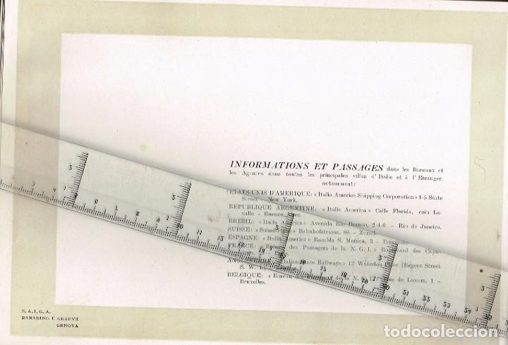 """Líneas de navegación: 1924 ALBUM DEL TRASATLÁNTICO """"GIULIO CESARE"""" + 2 Cartas publicitarias iguales de la Naviera - Foto 13 - 252659140"""
