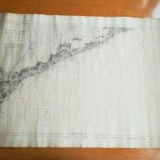 Líneas de navegación: DESDE EL RIO LLOBREGAT AL CABO DE TOSSA,1888. CARTA NAUTICÀ DE FELICIA SUST I VIVES, VILASSAR DE MAR. Lote 253899540