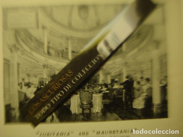 Líneas de navegación: CUNARD LINE - TRASATLANTICOS LUSITANIA Y FRANCONIA - AÑO 1911 PIEZA DE MUSEO - FOLLETO EUROPA USA - Foto 4 - 255474975