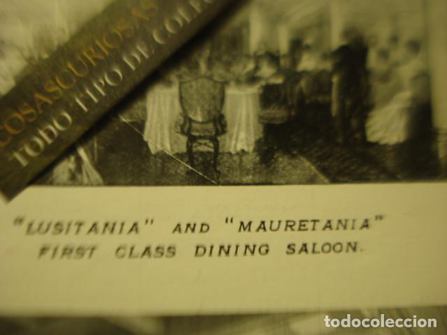 Líneas de navegación: CUNARD LINE - TRASATLANTICOS LUSITANIA Y FRANCONIA - AÑO 1911 PIEZA DE MUSEO - FOLLETO EUROPA USA - Foto 5 - 255474975