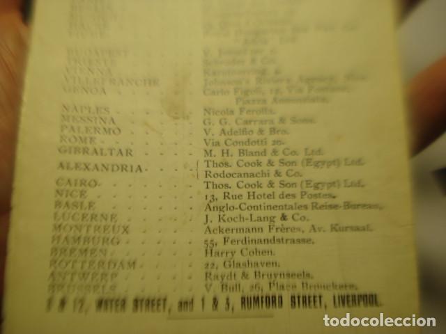 Líneas de navegación: CUNARD LINE - TRASATLANTICOS LUSITANIA Y FRANCONIA - AÑO 1911 PIEZA DE MUSEO - FOLLETO EUROPA USA - Foto 10 - 255474975