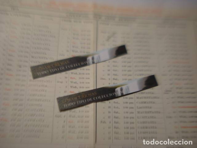 Líneas de navegación: CUNARD LINE - TRASATLANTICOS LUSITANIA Y FRANCONIA - AÑO 1911 PIEZA DE MUSEO - FOLLETO EUROPA USA - Foto 12 - 255474975