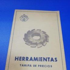 Líneas de navegación: HERRAMIENTAS. TARIFA DE PRECIOS. FACTORIA DE SAN CARLOS. SAN FERNANDO CADIZ. 1950.. Lote 258843020