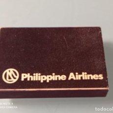 Líneas de navegación: RETRO CAJA CERILLAS PHILIPPINE AIRLINES - MANILA HOTEL. Lote 260351655
