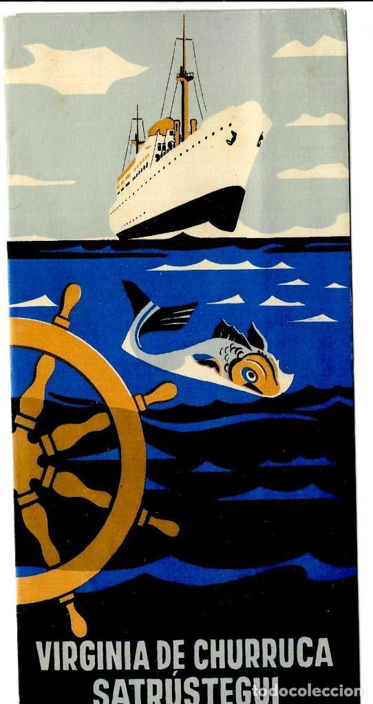 VIRGINIA DE CHURRUCA SATRÚSTEGUI - COMPAÑÍA TRANSATLÁNTICA ESPAÑOLA - FOLLETO PUBLICITARIO - 214X105 (Coleccionismo - Líneas de Navegación)