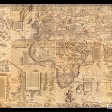 Linhas de navegação: CARTA MARINA MUNDIAL GIGANTE - WALDSEEMÜLLER 1516 ¡A TAMAÑO REAL! 2400X1350 MM. PORTULANO, NAUTICA. Lote 262725640