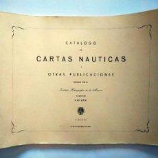 Lignes de navigation: CATÁLOGO DE CARTAS NÁUTICAS Y OTRAS PUBLICACIONES. INSTITUTO HIDROGRÁFICO DE LA MARINA. CÁDIZ, 1964.. Lote 262854580