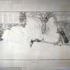 Linhas de navegação: PLANO DEL PUERTO DE CÁDIZ. REPRODUCCIÓN DE 1789. 103 X 73 CM.. Lote 262945415
