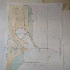 Lignes de navigation: COSTA ESTE DE ESPAÑA, PUERTO DE VALENCIA. INSTITUTO HIDROGRÁFICO DE LA MARINA. CÁDIZ, 1961.. Lote 262948805