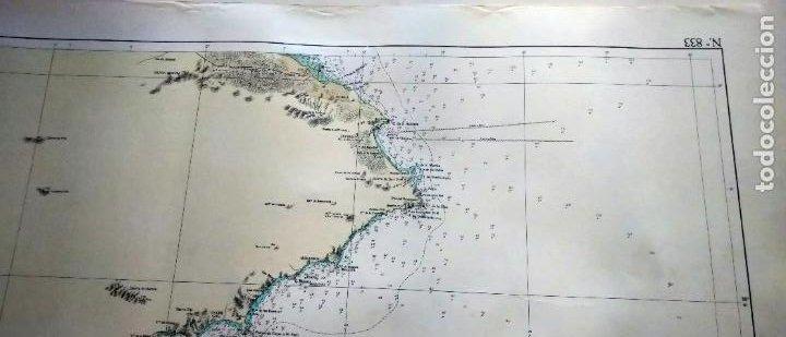 Líneas de navegación: DE CABO DE LAS HUERTAS A CABO DE SAN ANTONIO. INSTITUTO HIDROGRÁFICO DE LA MARINA. CÁDIZ, 1963 - Foto 4 - 262951045