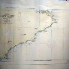 Líneas de navegación: DE CABO DE LAS HUERTAS A CABO DE SAN ANTONIO. INSTITUTO HIDROGRÁFICO DE LA MARINA. CÁDIZ, 1963. Lote 262951045