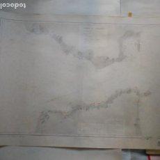 Líneas de navegación: CARTA NÁUTICA - DÉTROIT DE GIBRALTAR. REPRODUCCIÓN DE 1952 DEL ORIGINAL DE 1859.. Lote 262953415