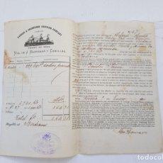Líneas de navegación: VIUDA DE BARRERAS Y CASELLAS VIGO ANTONIO CARDONA RIBEIRA GALICIA AÑO 1900. Lote 263721925