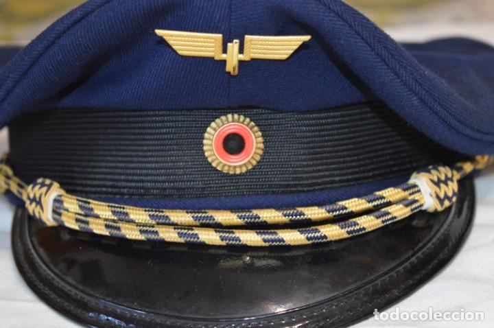 Líneas de navegación: Vintage / Alemania - Gorra de plato en azul marino / JOHANNES HEINRICH 607 LANGE ¡Mira fotos! - Foto 3 - 264245044