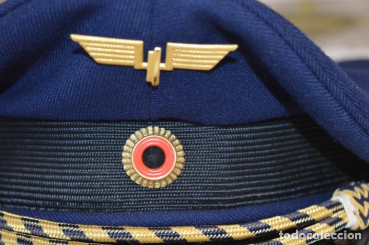 Líneas de navegación: Vintage / Alemania - Gorra de plato en azul marino / JOHANNES HEINRICH 607 LANGE ¡Mira fotos! - Foto 4 - 264245044