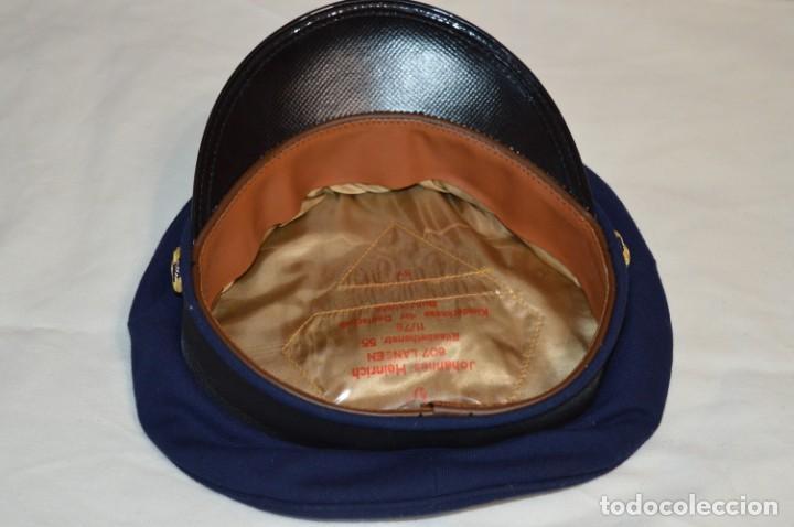 Líneas de navegación: Vintage / Alemania - Gorra de plato en azul marino / JOHANNES HEINRICH 607 LANGE ¡Mira fotos! - Foto 6 - 264245044