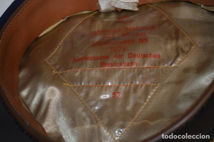 Líneas de navegación: Vintage / Alemania - Gorra de plato en azul marino / JOHANNES HEINRICH 607 LANGE ¡Mira fotos! - Foto 8 - 264245044